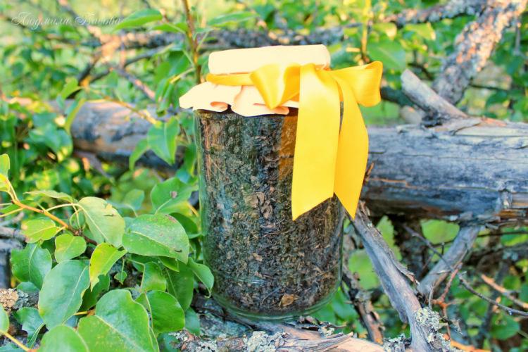 грушевый чай из ферментированных листьев